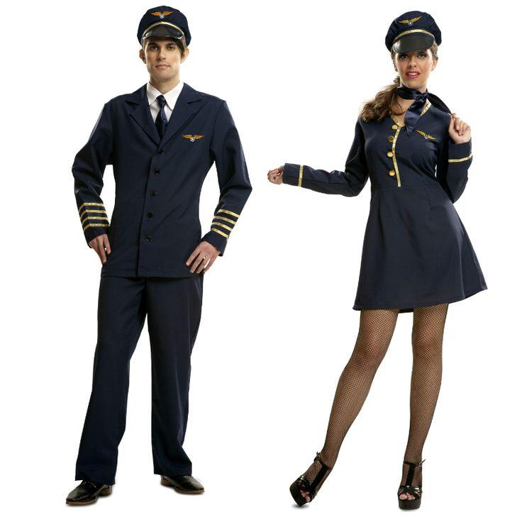 Pareja Disfraces Pilotos Aviación #parejas #disfraces #carnaval