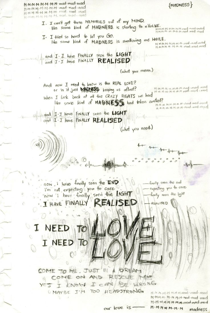 Is this real love?  Or is it just madness keeping us afloat?    Madness - Muse