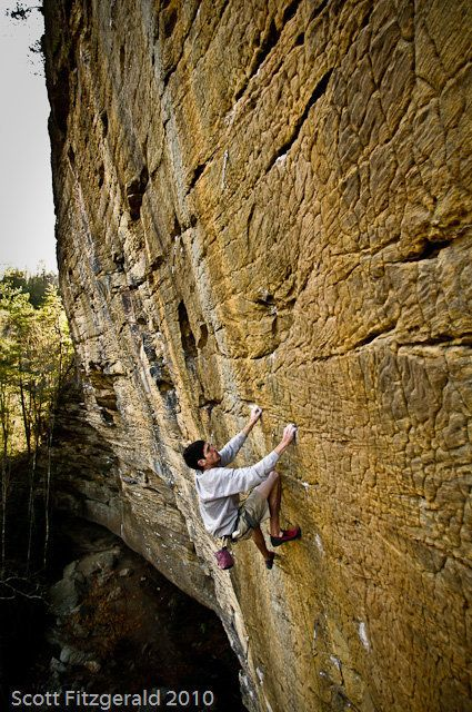 Red River Gorge - The Solarium - Abiyoyo - 5.12b  One of the best routes at the Red! See the full list of the Red River Gorge's best climbs here: http://www.elementalclimbingclub.com/blog/top-routes-at-the-red-river-gorge-by-grade