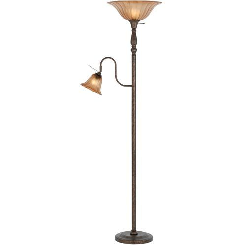141 best floor lamp finalists images on pinterest floor lamps cal lighting torchiere with reading lamp with glass shade aloadofball Images