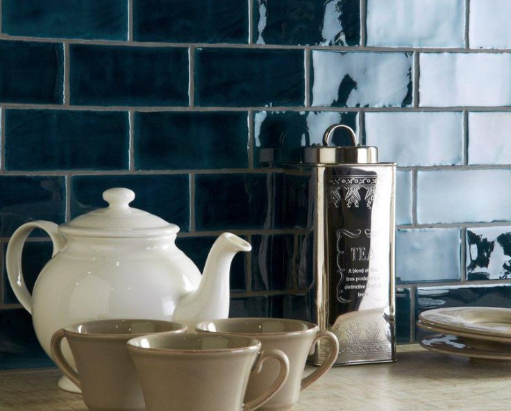 Bastille half tiles. From the Cosmopolitan range at The Winchester Tile Company. Handmade ceramic tiles, made in the UK. winchestertiles.com
