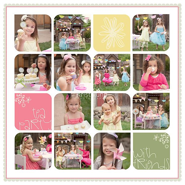 Just Like The Idea Of Rounding One Set Of Diagonal Corners Per Picture On A  Layout Free Collage Template From KLP Designs