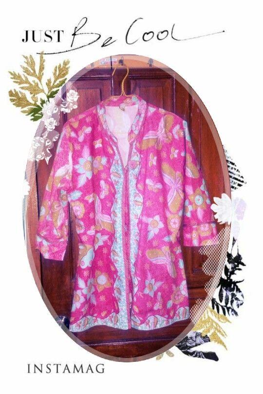 pink batik cirebon top