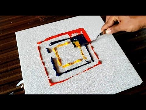 Making of EASY Abstract Painting / Acrylic & Spatula / Project 365 Days / Day # 098 – YouTube