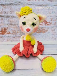 Crochet And Hook: Balerína macska- free pattern, mintaleírás