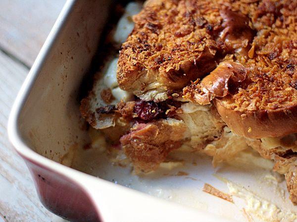 Cranberry & Cream Cheese Stuffed French Toast Casserole