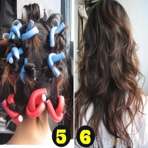 10 Pcs/set penjepit, Pembuat lembut busa Bendy sentuhan ikal Styling DIY rol rambut alat untuk aksesoris wanita 1E35