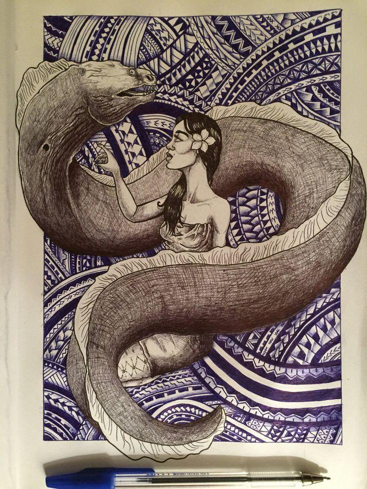 Sina  the Eel by mrdwulf