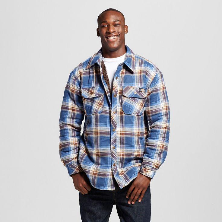 Dickies - Men's Sherpa Lined Flannel Shirt Jacket