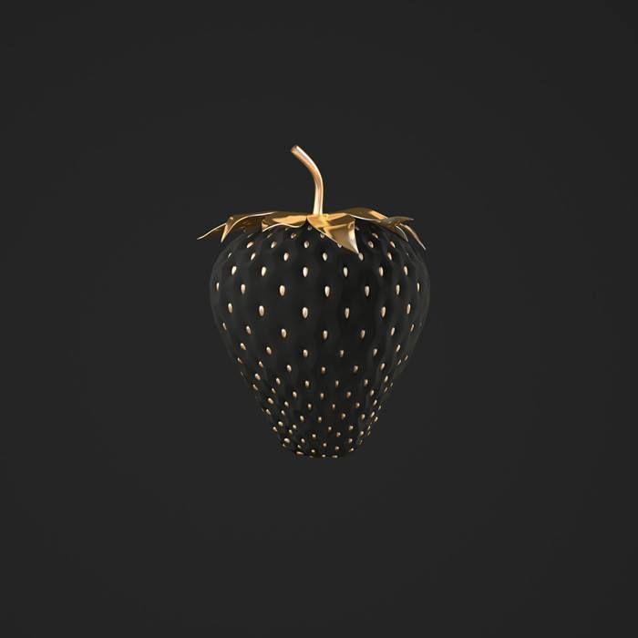 Black Strawberry. black - white schwarz - weiß