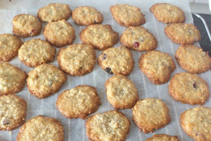 Havregryns cookies med tranebær