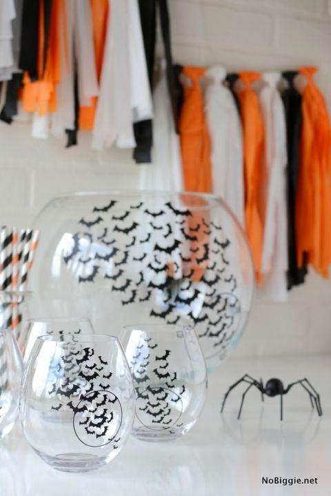DIY Halloween punch bowl and cups | NoBiggie.net