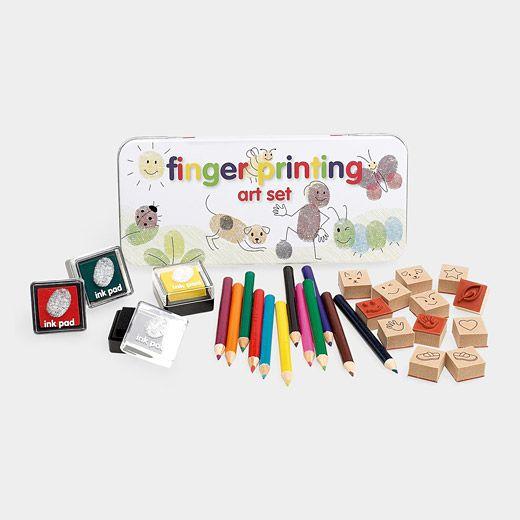 finger printing art set: Fingerprint Art, Finger Printing, Toy, Gift Ideas, Fingers, Kids