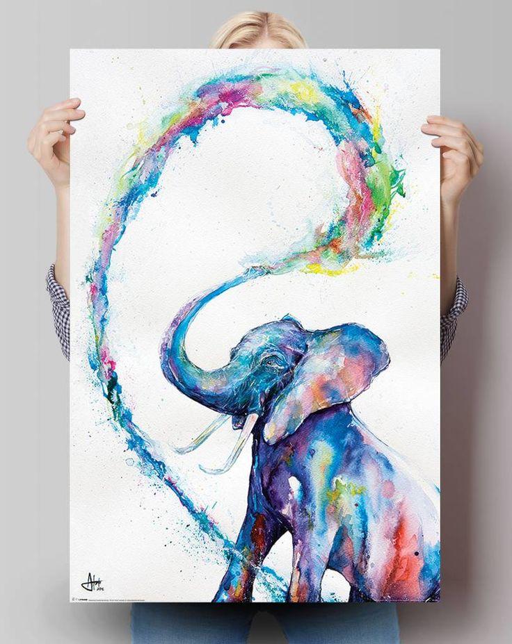 Olifant aquarel | Poster - REINDERS!