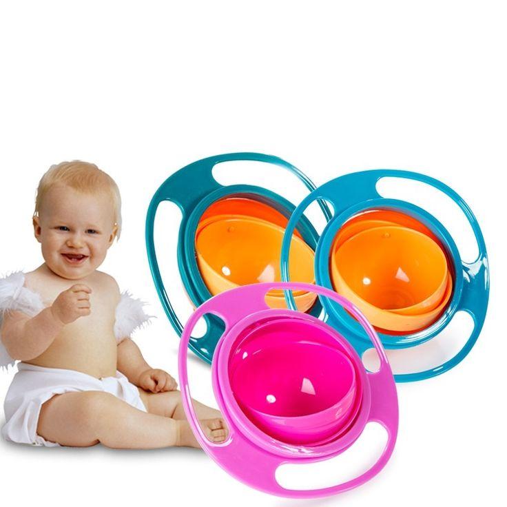 Perakende Bebek Yemekleri Besleme Sevimli Oyuncak Bebek Gyro Kase Evrensel 360 Döndürün Dökülme-Proof Yemekleri çocuk Bebek Sofra