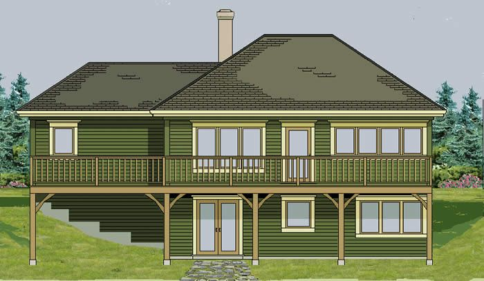 walk out basement walk out basement split level the On split level house plans with walkout basement