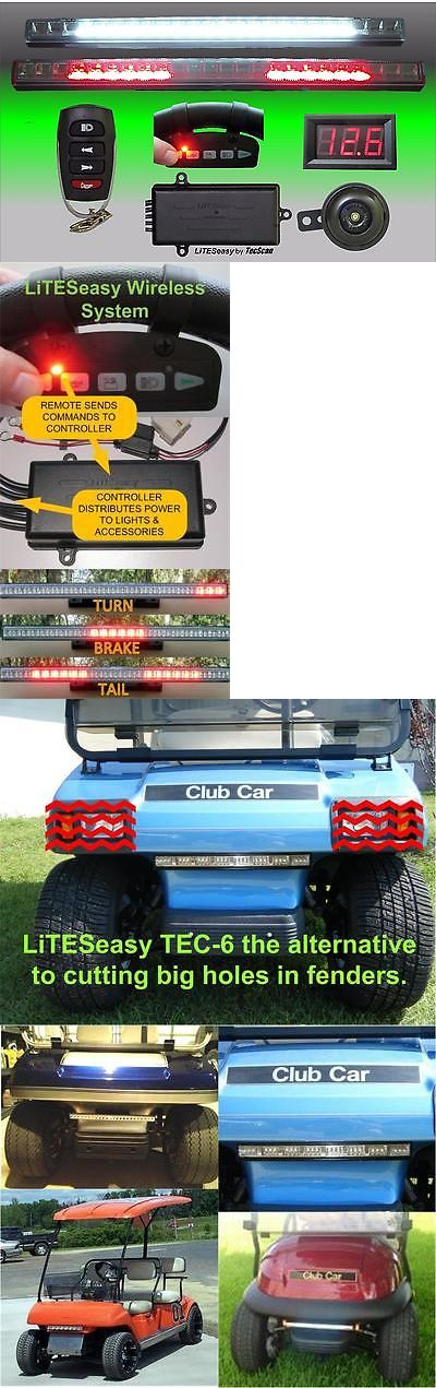 Push-Pull Golf Carts 75207: Club Car Golf Cart Liteseasy Deluxe Wireless Light And Turn Signal Kit And 2 Remotes -> BUY IT NOW ONLY: $149.99 on eBay!
