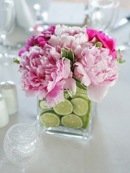 Pink & Lime Centerpieces - Have A Fiesta With These Cinco De Mayo Party Ideas - Photos