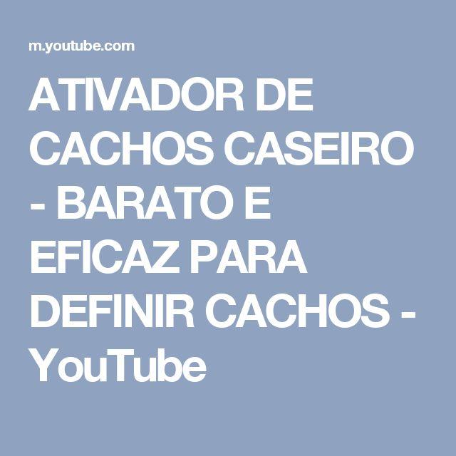ATIVADOR DE CACHOS CASEIRO - BARATO E EFICAZ PARA DEFINIR CACHOS - YouTube