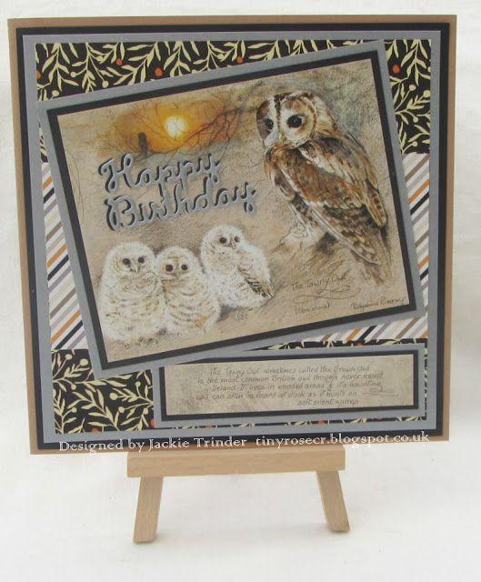 Tinyrose's Craft Room: Pollyanna Pickering - Tawny Owl - Birthday Card from Creative World of Crafts