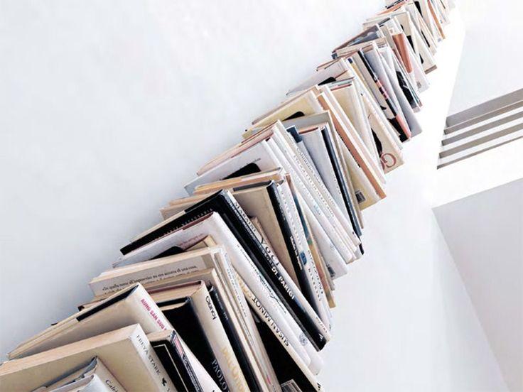 Libreria a giorno a parete in metallo WALL PTOLOMEO by Opinion Ciatti design Bruno Rainaldi