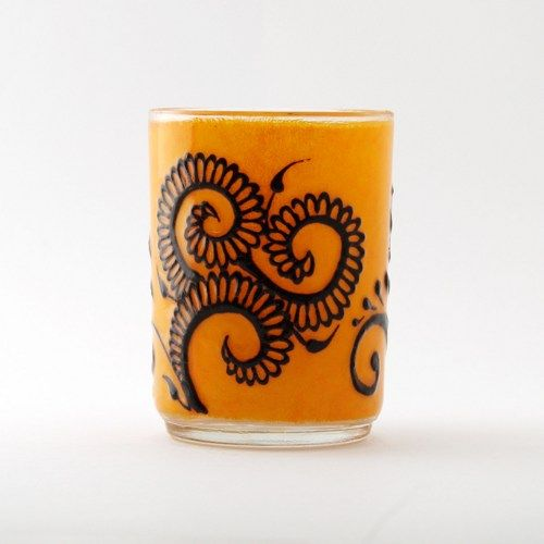 Opal Moon Henna Mango Small Votive Swirly Gulf Style Hennaed Candle Holder $12 Cyber Monday Sale 20%