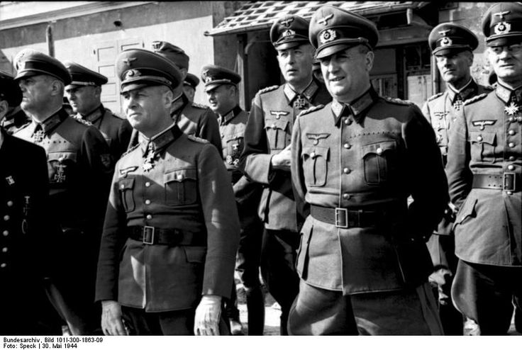 German Army Field Marshal Erwin Rommel at the Atlantic Wall near Ouistreham, Normandy, France, 30 May 1944