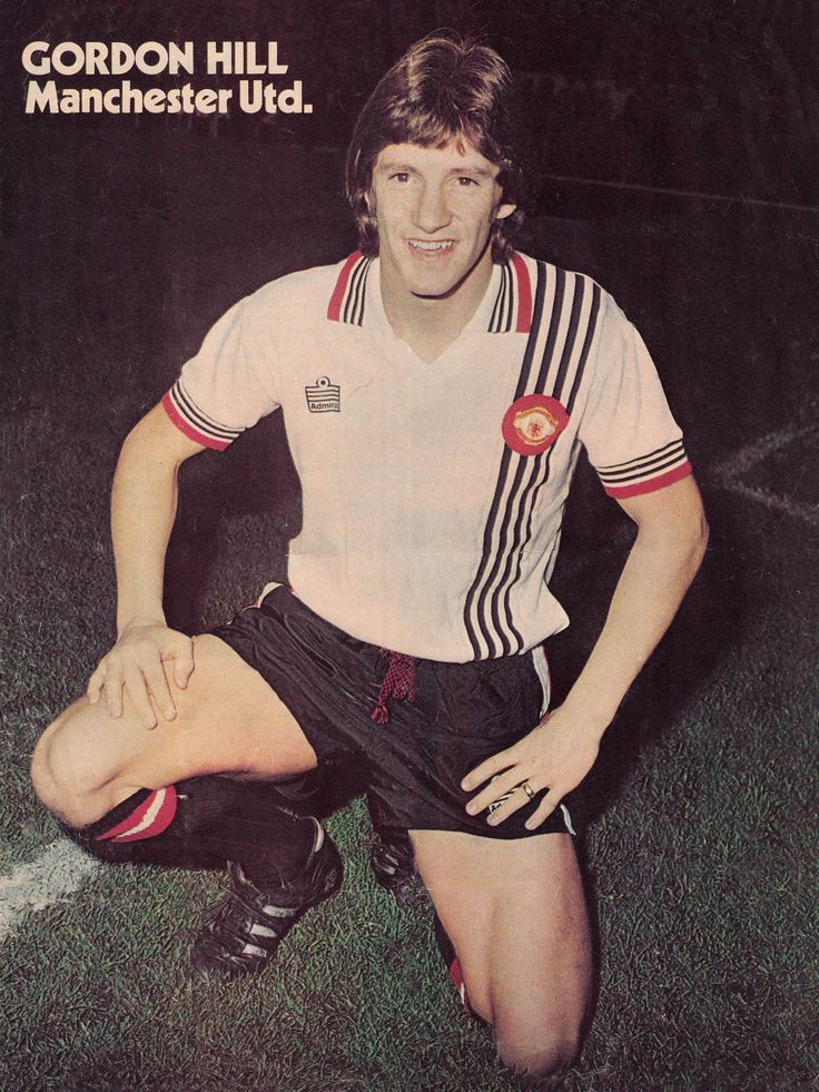 Circa 1976/77. Manchester United and England winger Gordon Hill.