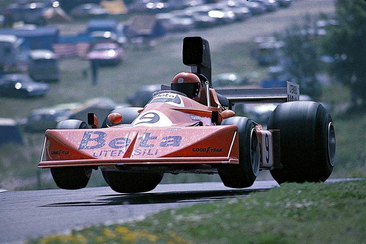 Vittorio Brambilla in his March 751 at the 1975 German Grand Prix.