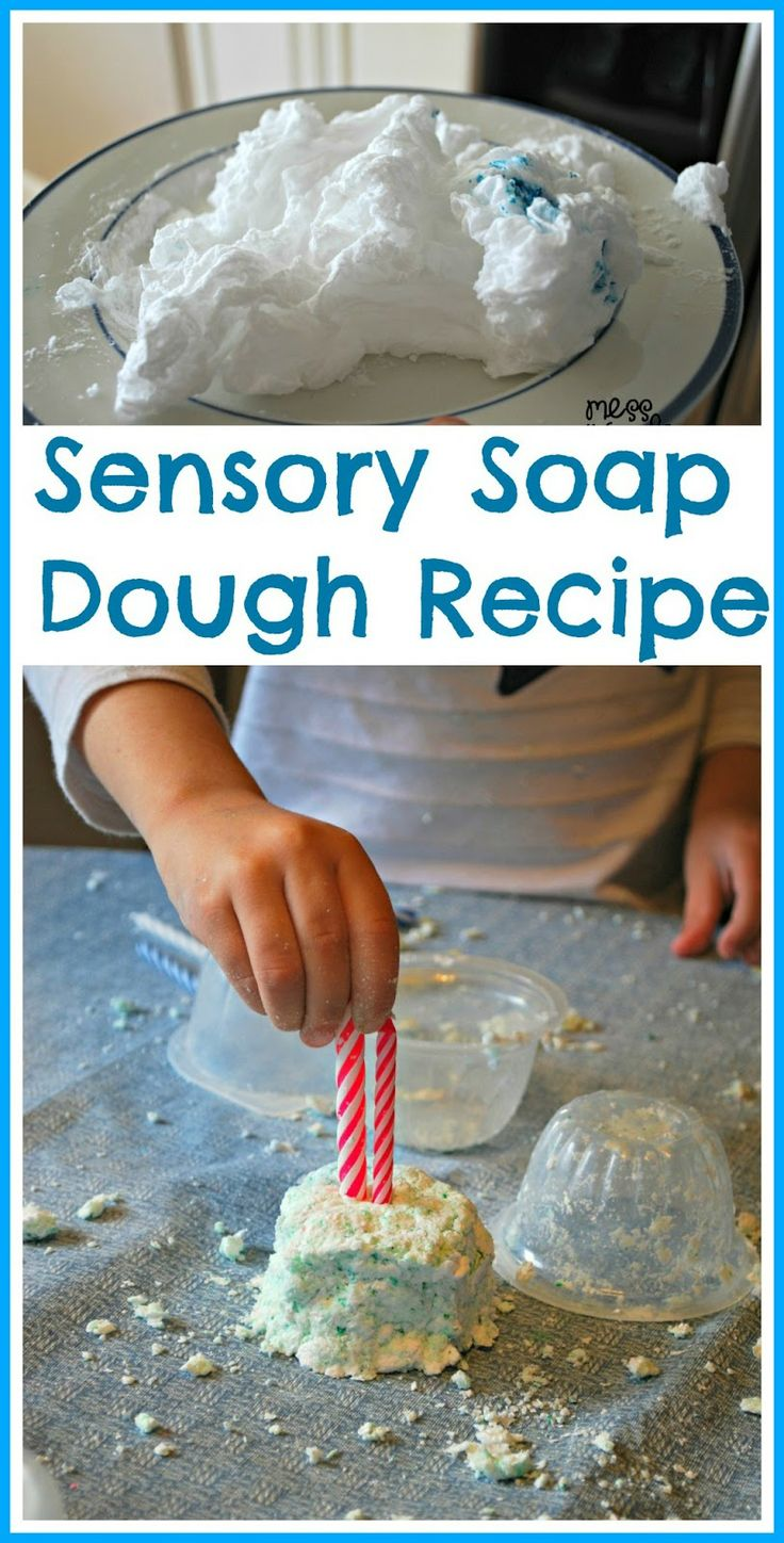 Sensory Soap Dough Recipe with microwaved soap. Its simple to create this fun soap dough and kids will have a blast playing with it! #kids #sensory