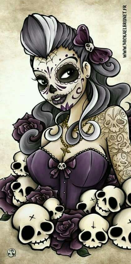 No spiderweb. Keep the skull in her bow. But not in the flowers