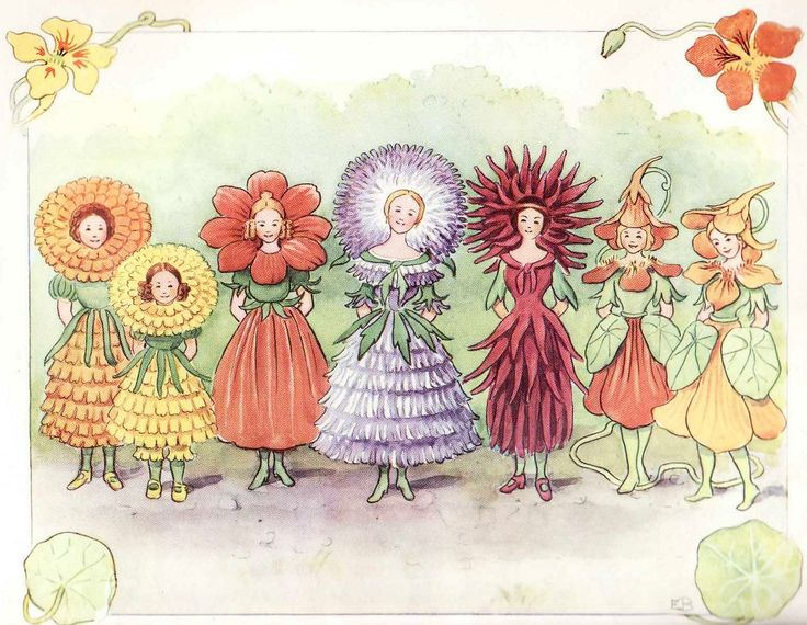 Elsa Beskow - The flower's festival from Christopher's Harvest Time, 1914 - Sweden
