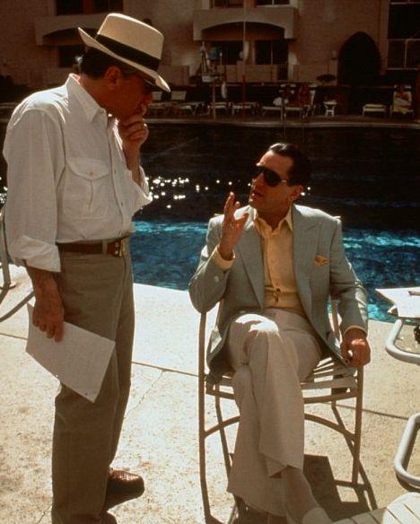 Martin Scorses and Robert De Niro on-set of Casino