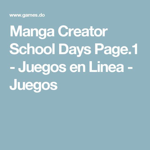 Manga Creator School Days Page.1 - Juegos en Linea - Juegos