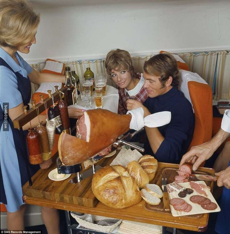 SAS Airline first class, 1960s.