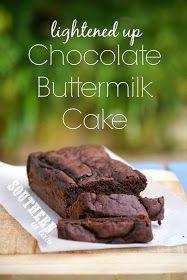 Healthy Buttermilk Chocolate Cake Recipe - Gluten Free, Low Fat, Low Sugar, Healthier, Lightened Up, Skinny Recipe