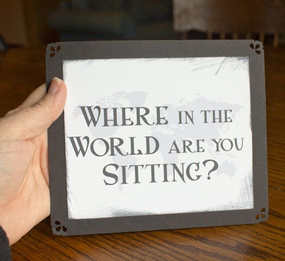 Travel Wedding Seating Sign Where in the by ShannaMicheleDesigns, $2.45 different country and pic of you in country for each