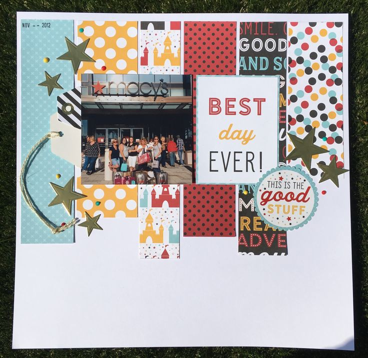 12 x 12 scrapbook layout - Best Day Ever - Florida 2012 - Magic and Wonder - Echo park www.cs-getcrafty.com