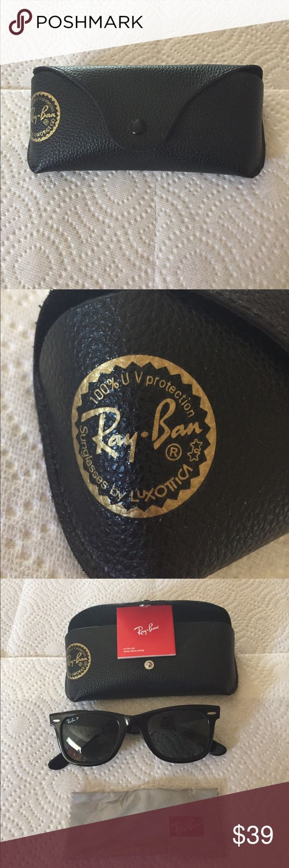 Ray-Ban sunglasses Ray-Ban Wayfarer Handmade in Italy.  Never worn! New condition Ray-Ban Accessories Sunglasses