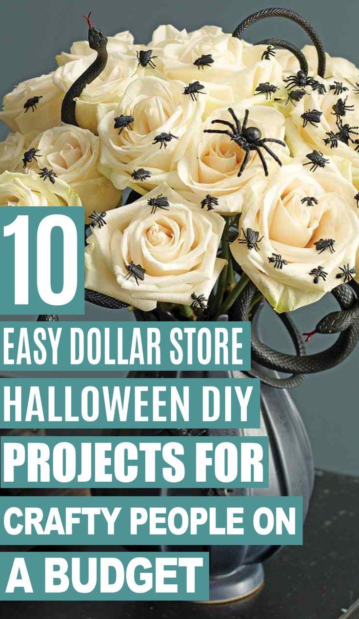 10 Super Easy Dollar Store Halloween DIY Decor Ideas