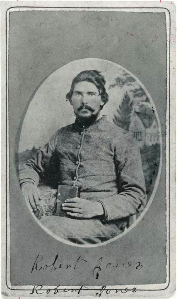"""Private Robert Jones Co. I """"Granville Stars""""  23rd NC Infantry, died of Smallpox at Fort Delaware in 1863 after his capture at Gettysburg."""