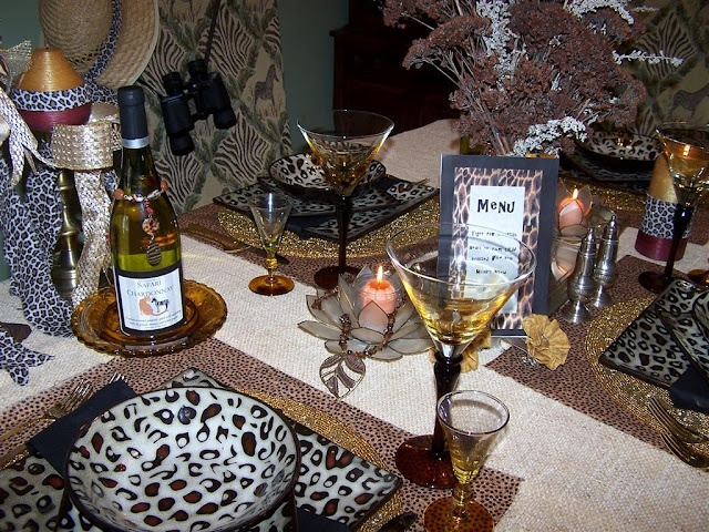 17 best images about animal print african themes on for Animal print decoration party