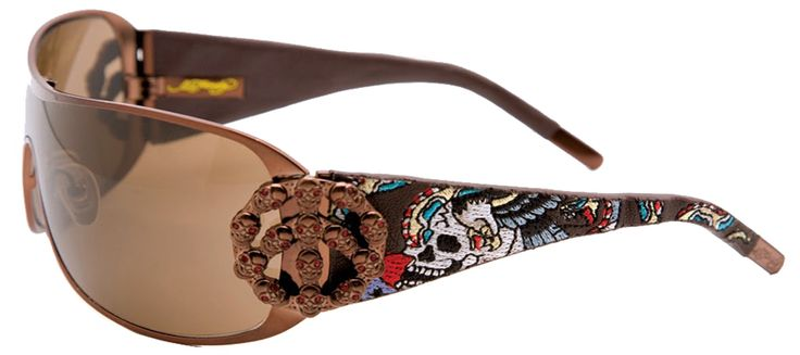 Ed Hardy EHS-038 New York City Sunglasses – Latte/Brown