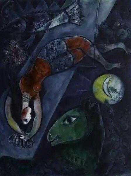 Le cirque bleu, 1950, Marc Chagall  (... X....)