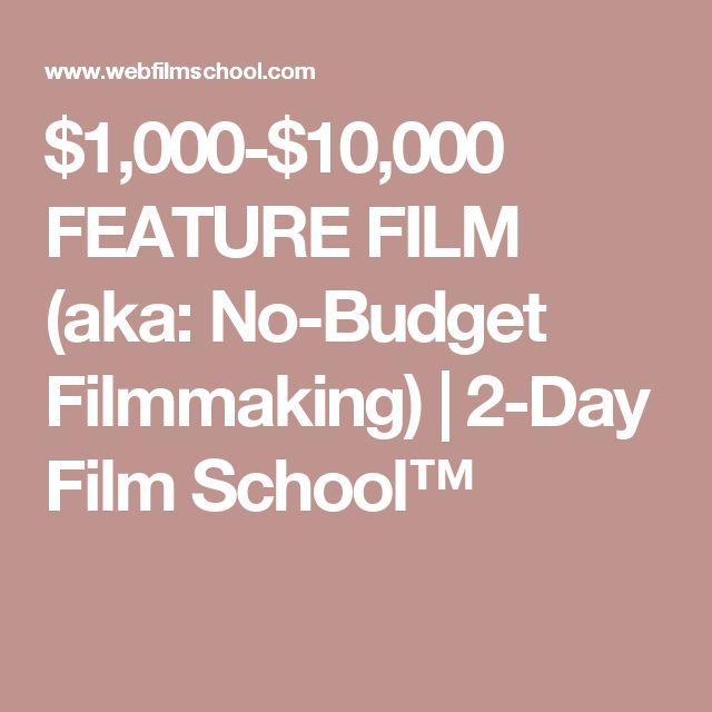 $1,000-$10,000 FEATURE FILM (aka: No-Budget Filmmaking) | 2-Day Film School™