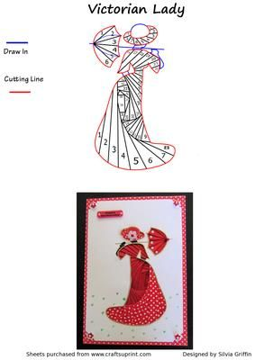Victorian Lady IF on Craftsuprint designed by Silvia Griffin - Stunning dress on this Victorian lady with an umbrella. Many many color variations possible. All your female friends and family will frame this one. - Now available for download!