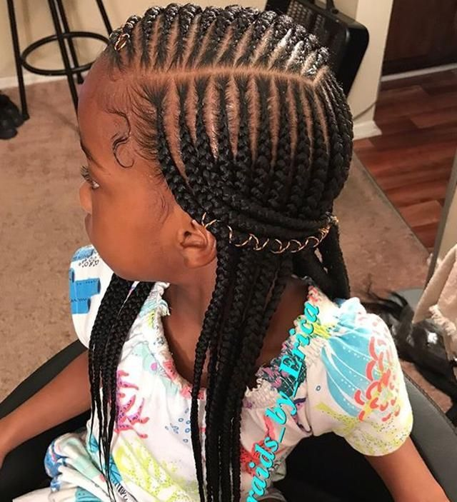 Braided Hairstyles For Girls Lilostyle In 2020 Braids For Black Hair Lil Girl Hairstyles Hair Styles