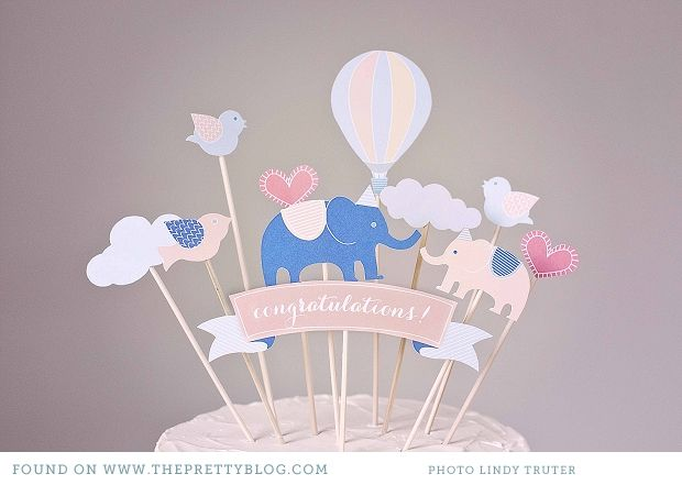 free printables baby shower birthday wedding cake toppers 013 Let them eat cake! {DIY Cake Toppers}