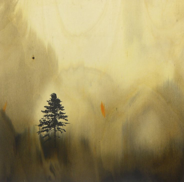 Cianac, olio e mordente si tavola, 61X61, 2010