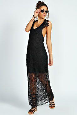 Amie Crochet Back Detail Maxi Dress